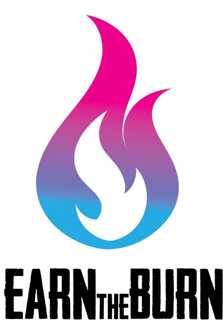 Earn The Burn logo - Female front